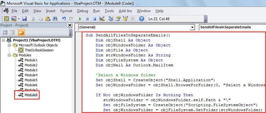 VBA Code - Batch Send All Files in a Windows Folder via Separate Emails
