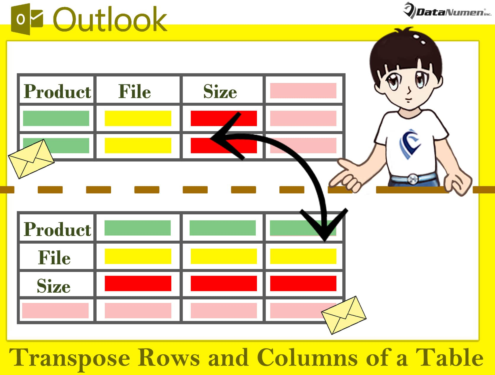Quickly Transpose the Rows and Columns of a Table in Your Outlook Email