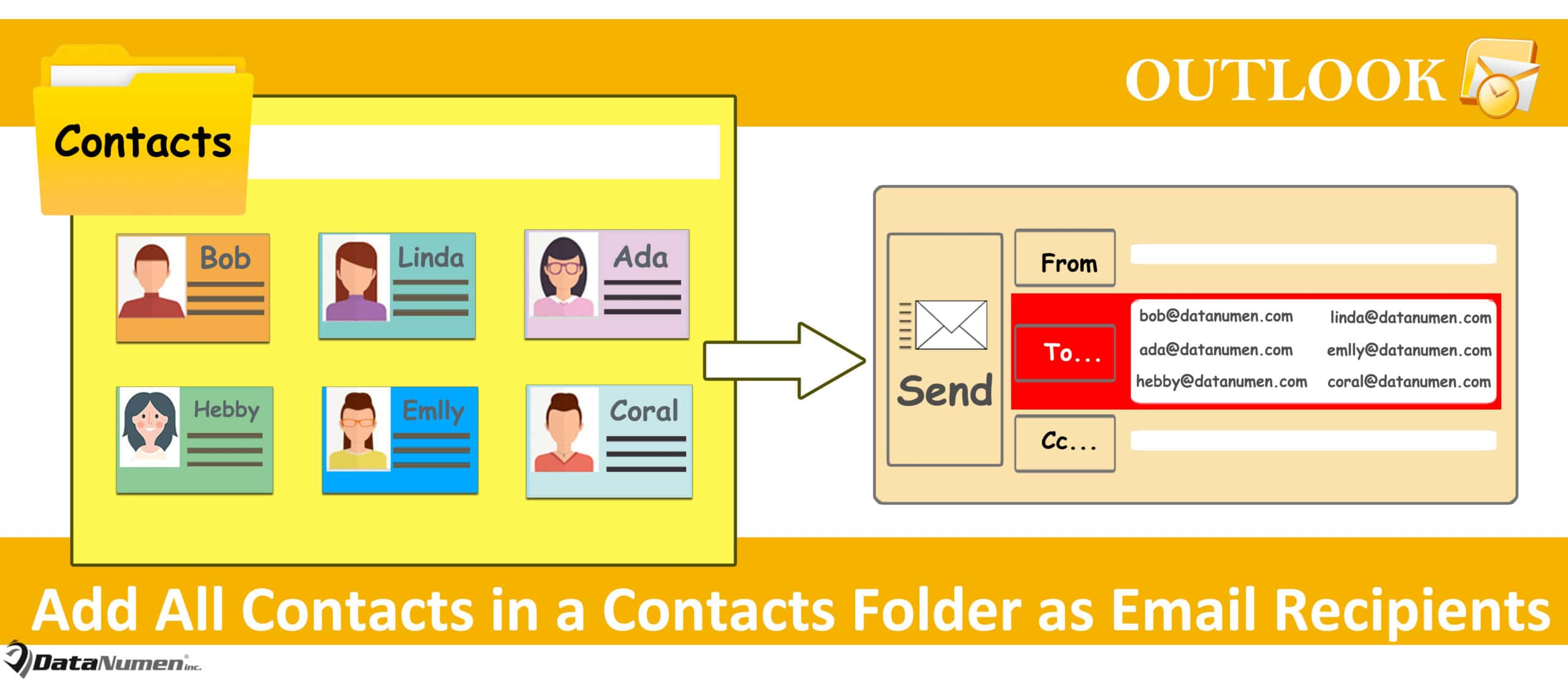 how to create a contacts folder in outlook