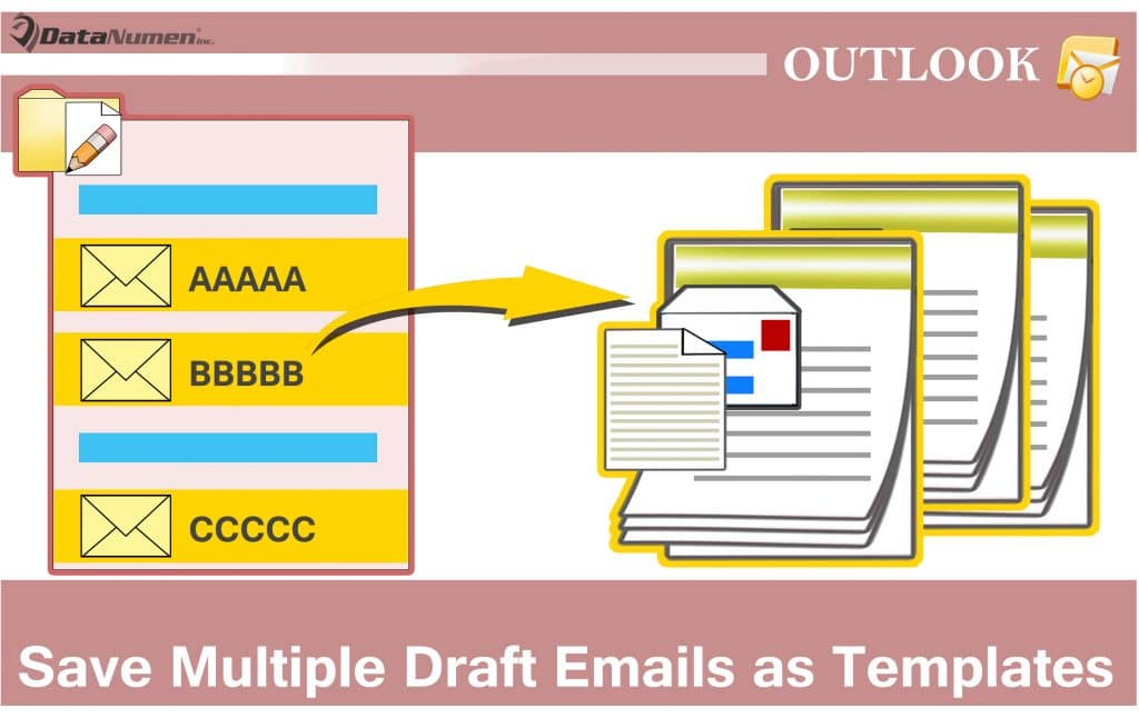 how to batch save multiple draft emails as outlook