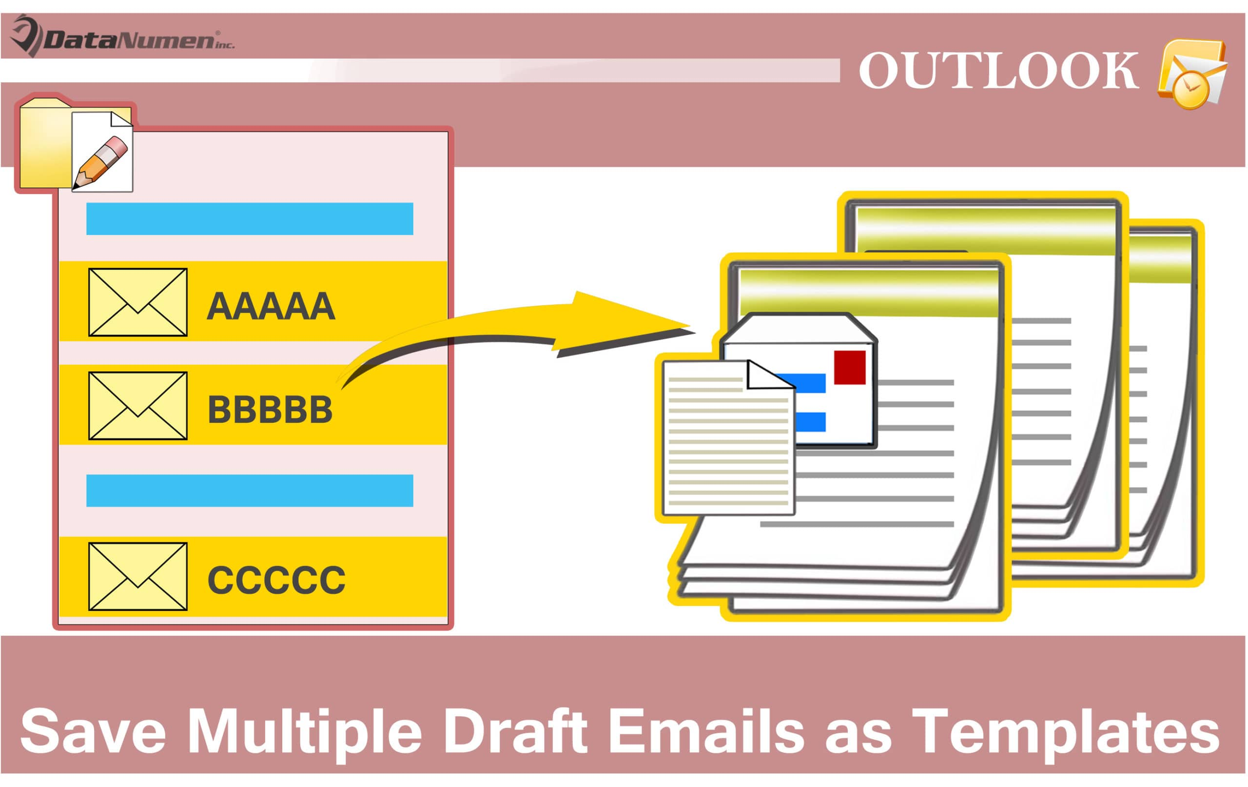 How to batch save multiple draft emails as outlook for Saving a template in outlook