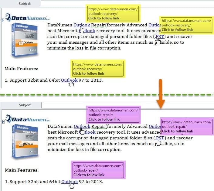 Multiple Hyperlinks' Addresses Are Changed