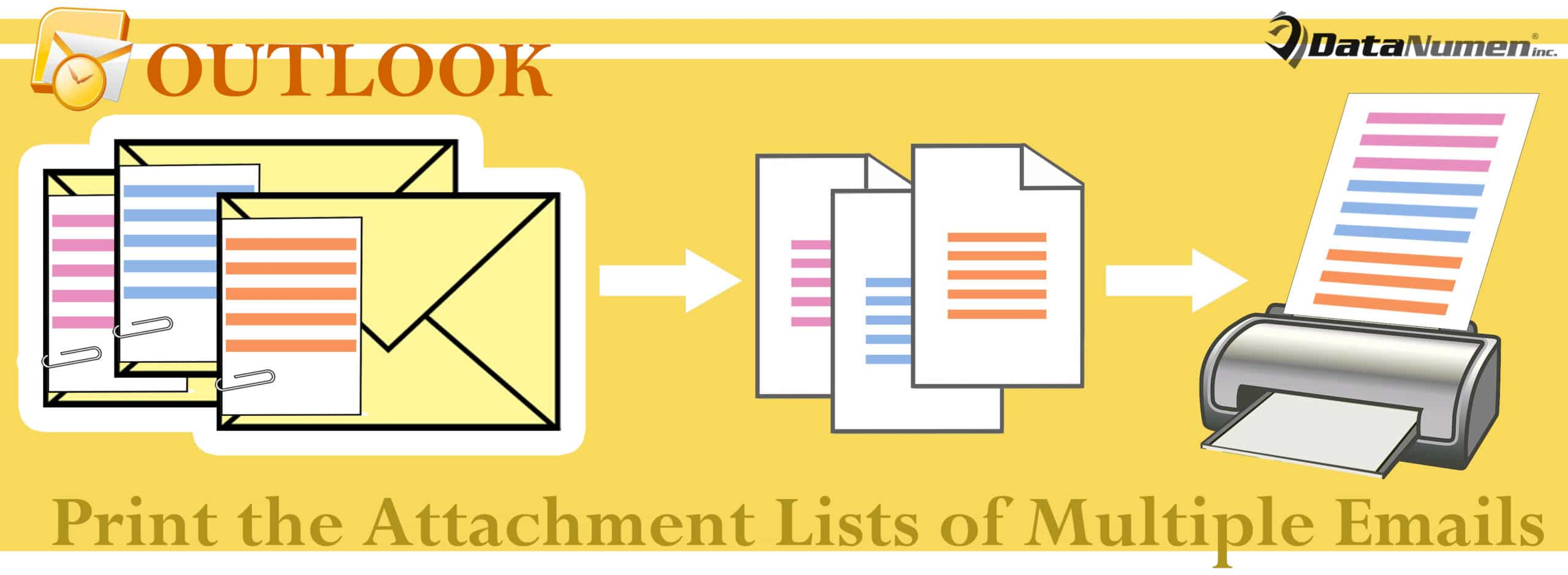 2 Quick Methods To Print The Attachment Lists Of Multiple Outlook