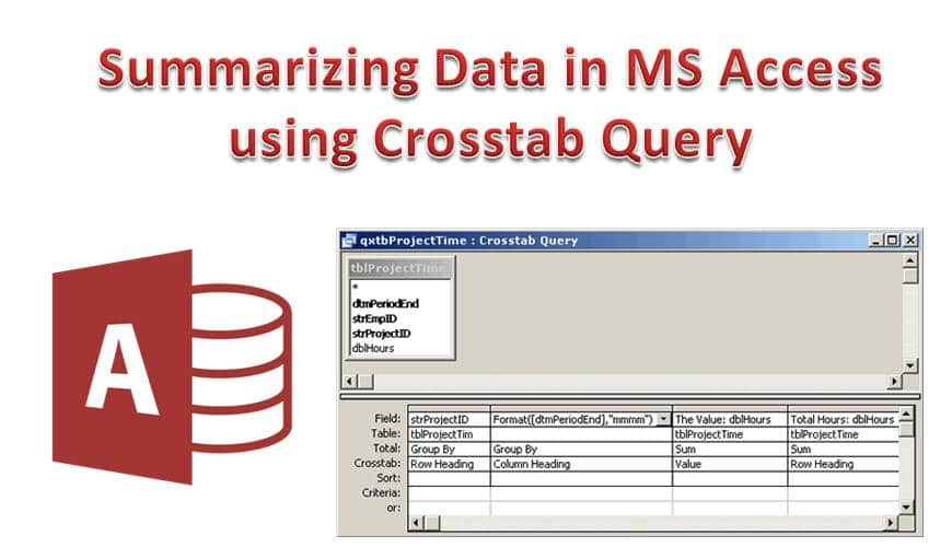 How to Summarize Data in MS Access using Crosstab Query