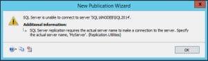 SQL Server Replication Errors