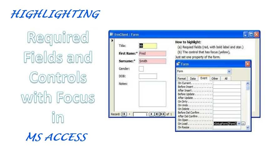 How to Highlight Required Fields and Controls with Focus in