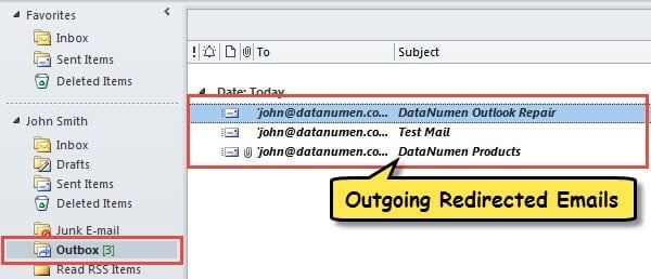 Outgoing Redirected Emails