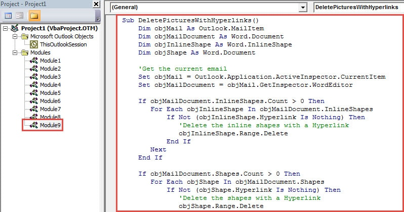 VBA Code - Batch Delete All Embedded Images with a Hyperlink