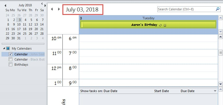 Birthday Calendar In Outlook : How to quickly jump a contact s birthday in outlook