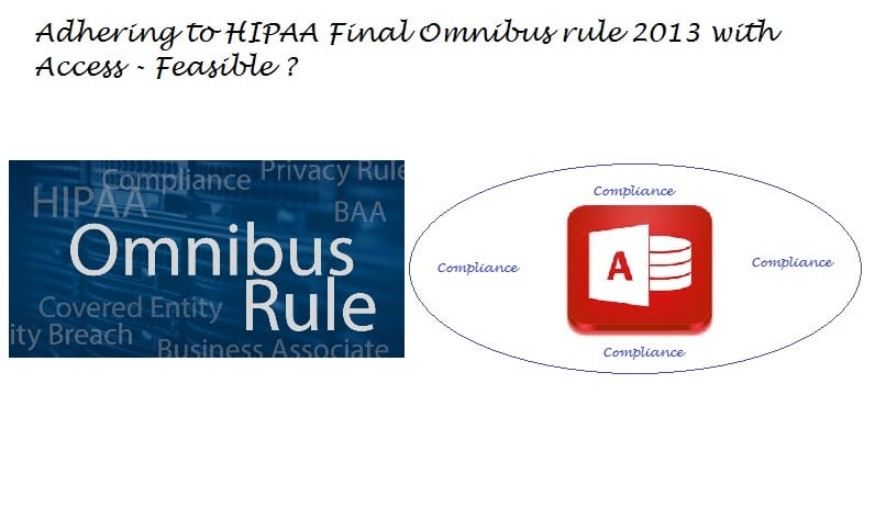 Can MS Access Applications Stand Scrutiny To HIPAA Final Omnibus 2013 Rules