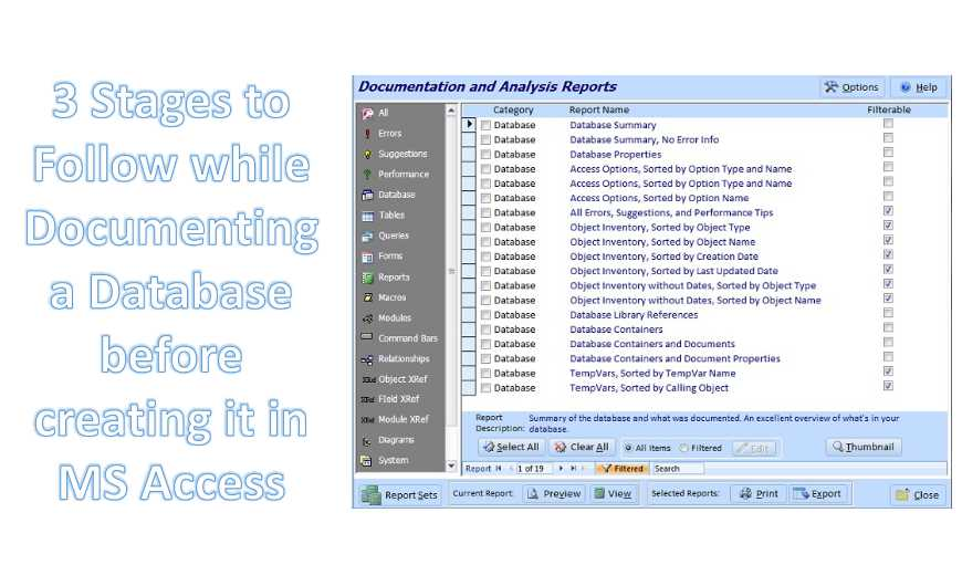 Documenting A Database Before Creating It