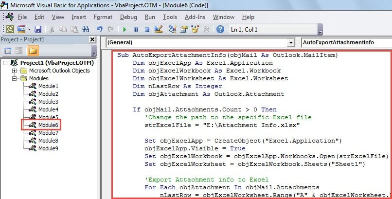 How to Auto Export the Attachment Information of Incoming