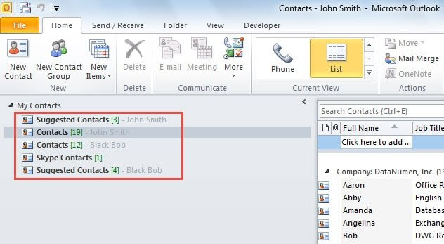 how to show folders hotmail