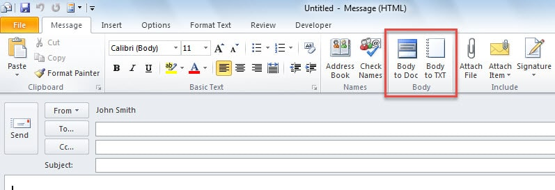 how to make a copy of email in outlook