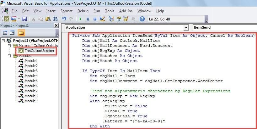 VBA Code - Auto Italicize All Non-alphanumeric Characters in Email Body