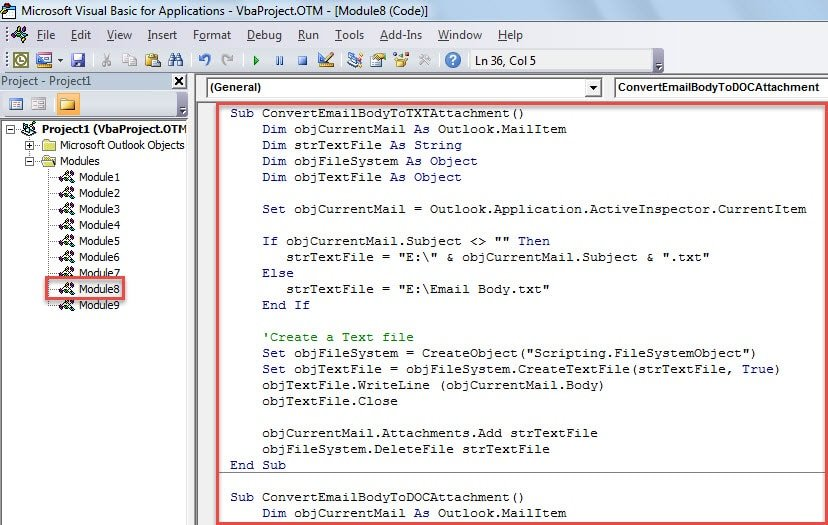 VBA Code - Attach a Copy of the Body to the Email when Composing It