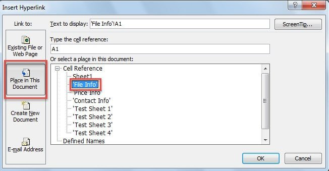 Select Place in This Document
