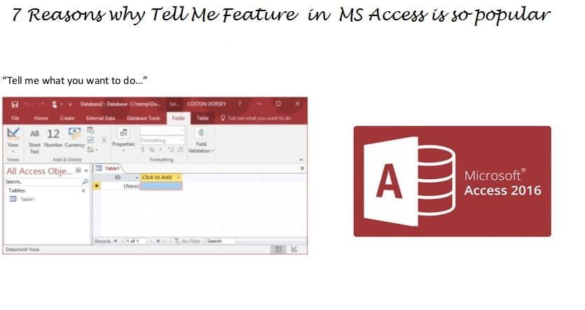 "7 Reasons Make ""Tell Me"" Feature in Access Popular"