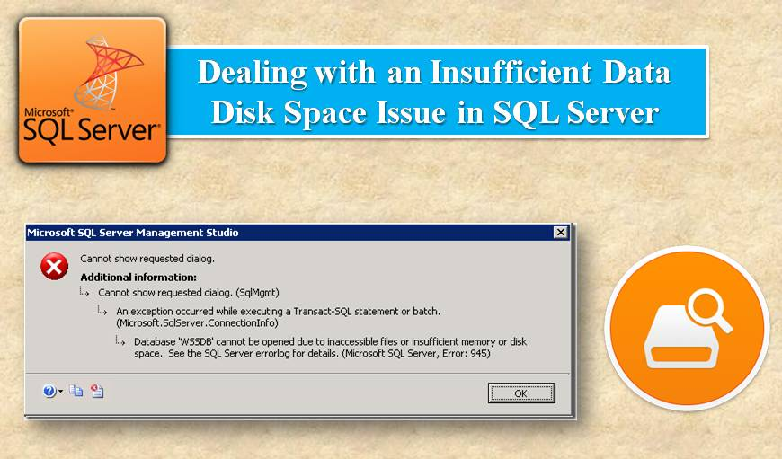How to Deal with an Insufficient Data Disk Space Issue in