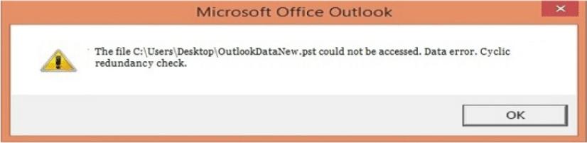Data error. Cyclic redundancy check.