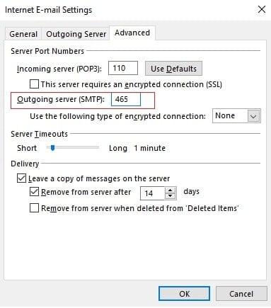 Internet E-mail Settings(Advanced Settings)