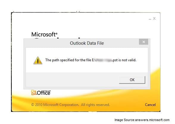 The Path Specified for the File is not Valid