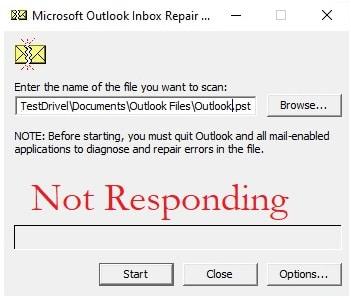 Inbox Repair Tool(Scanpst) Not Responding
