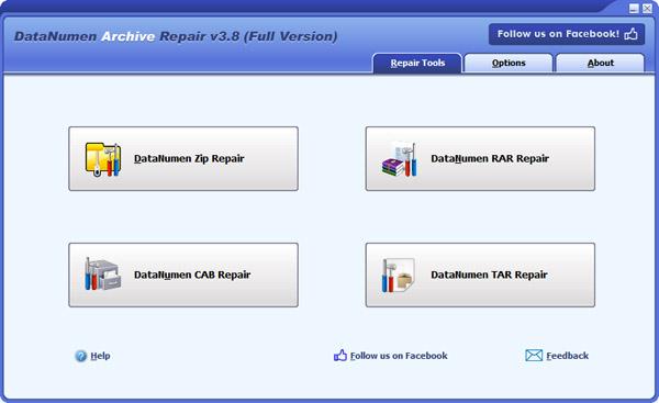 DataNumen Archive Repair 2.3