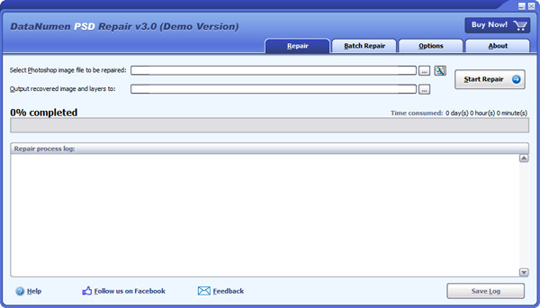 DataNumen PSD Repair full screenshot