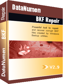 DataNumen BKF Repair ಬಾಕ್ಸ್ಶಾಟ್