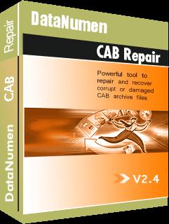 DataNumen CAB Repair باڪس شوٽ
