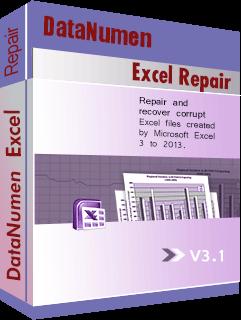 DataNumen Excel Repair බොක්ස් ෂොට්