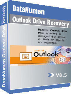DataNumen Outlook Drive Recovery بکس شاټ