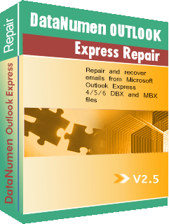 DataNumen Outlook Express Repair बक्सशट
