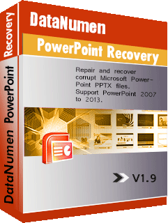 DataNumen PowerPoint Recovery ਬਾਕਸ ਸ਼ਾਟ