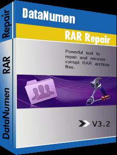 DataNumen RAR Repair பாக்ஸ்ஷாட்