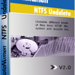 DataNumen NTFS Undelete Boxshot