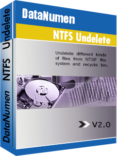 DataNumen NTFS Undelete Боксхот