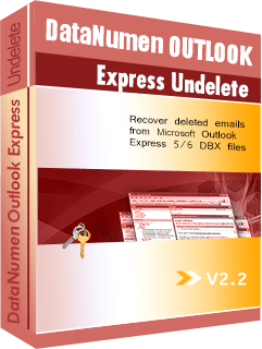 DataNumen Outlook Express Undelete বক্সশট